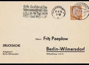 1938: Erste Großdeutsche Schwimmmeisterschaften Darmstadt