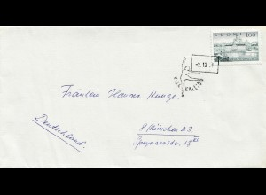 1979: Brief von Finland nach Deutschland - Tanz, Turnen