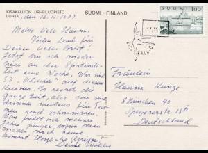 1977: Ansichtskarte von Finland nach Deutschland - Tanz, Turnen - Kisakallion