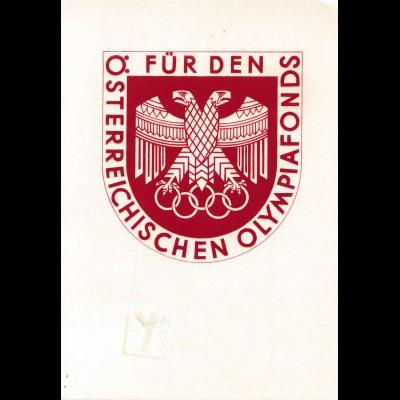1936: Für den Österreichischen Olympia-Fonds in Innsbruck/Tirol - Ski