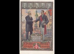 1913: Ansichtskarte Leipzig Deutsches Turnfest - Festkarte
