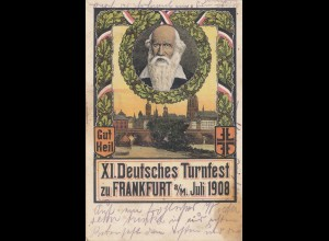1908: Deutsches Turnfest Frankfurt Main-Ansichtskarte