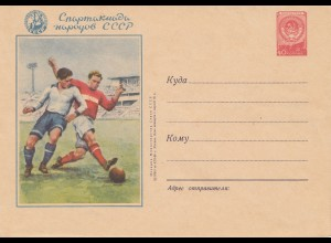 Ganzsache Russland - Fußball