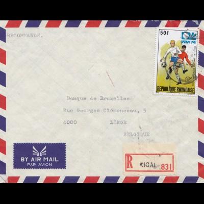 1974: Ruanda: Rwandaise - Fußball WM Chile-Deutschland: nach Liege-Belgien