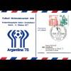 1978: Fußball WM 1978 Argentinien: Ganzsache Berlin: Vorbereitungsspiel 1977