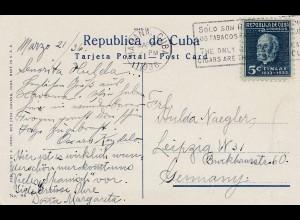 1936: Ansichtskarte -Tabacos/cigars Habana