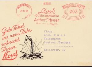1934: Wuppertal Llyd-Qualitätsmarke Hosenträger - Segelschiff
