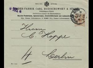 1938: Leder Fabrik / Schuhwaren Wien