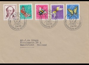 1954: Pro Juventute Schmetterling/Biene/Libelle