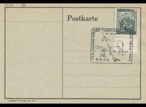 Österreich 1946: 100 Jahre Tierschutz -Pferd, Hund, Vogel