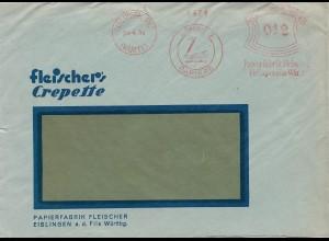 1934: Eislingen - Papierfabrik - Schwan - Papiere Freistempel