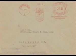 1941: Schneidemühl - Oberbürgermeister - Hirsch im Wappen