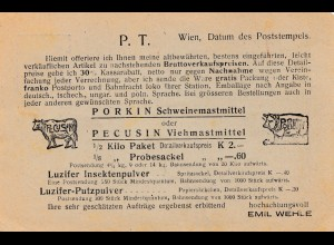 Österreich: Vieh- und Schweinemast nach Polen-Ganzsache