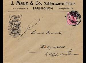 1912: Sattlerwaren Fabrik - Braunschweig nach Heiligenfelde: Pferd