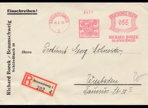 1933: Braunschweig: Borek: Mit Pferd im Wappen nach Wiesbaden