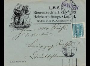 Österreich: Bienenzuchtartikel Holzbearbeitung, Wien nach Leipzig