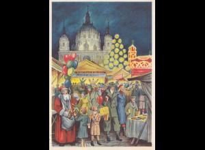 1938: Ansichtskarte Weihnachtsmarkt Berlin Lichtenfelde: WHW