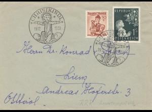1953: Christkindl - Österreich Brief nach Lienz