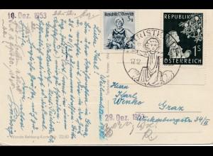 1953: Christkindl - Österreich , Postkarte