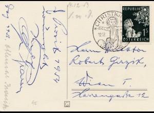 1953: Christkindl - Österreich Postkarte nach Wien