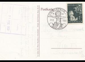 1953: Christkindl - Österreich Postkarte nach Wien Fa. Stuag