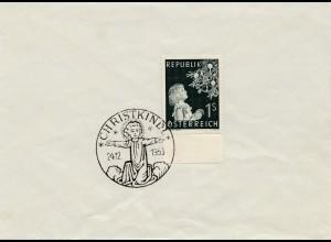 1953: Christkindl - Österreich, Blanko Beleg