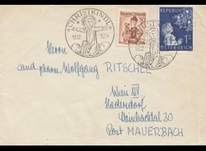1954: Christkindl - Österreich Brief nach Wien