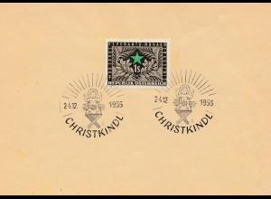 1955: Christkindl - Österreich Blanko Beleg