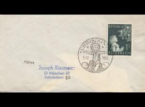 1955: Christkindl - Österreich Brief nach München