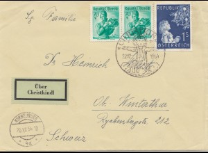 1954: Christkindl - Österreich nach Winterthur