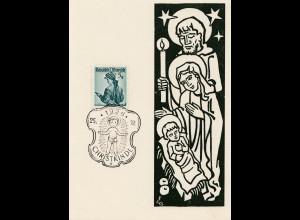 1956: Christkindl - Österreich auf Sonderkarte