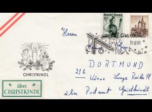 1960: Christkindl - Österreich auf Brief nach Dortmund