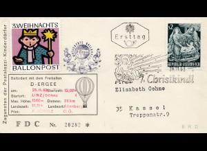 1963: Christkindl - Österreich - Ballonpost