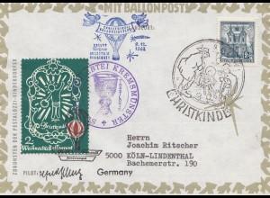 1962: Christkindl - Österreich Ballonpost
