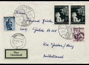 1953: Christkindl - Österreich auf Brief nach Goslar