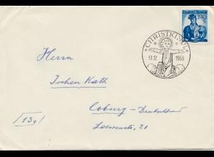 1953: Christkindl - Österreich auf Brief nach Coburg