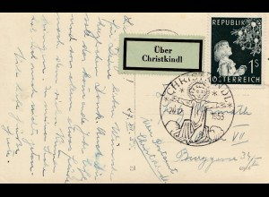 1953: Christkindl - Österreich auf Postkarte