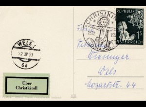 1953: Christkindl - Österreich nach Wels