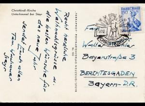 1957: Christkindl - Österreich nach Berchtesgaden