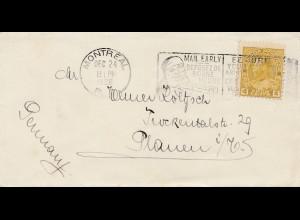 1928: Montreal -Canada: 24.12. to Plauen/Germany: Nikolaus-Weihnachtsmann