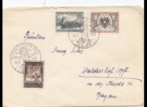 1954: Christkindl - Österreich Vignette Schlittenfahrt