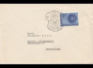 1956: Christkindl - Österreich auf Brief nach Berlin