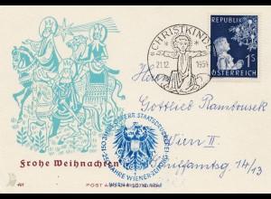 1954: Christkindl - Österreich: Staatsdruckerei-Wiener Zeitung