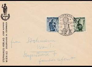 1954: Christkindl - Österreich auf Brief nach Wien