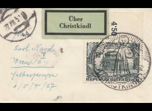 1952: Christkindl - Österreich auf kleinem Brief