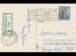 1958: Christkindl - Österreich auf Postkarte