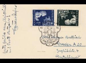 1956: Christkindl - Österreich auf Postkarte