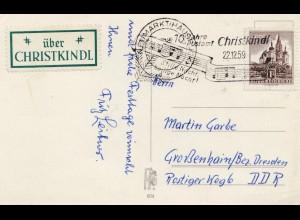 1959: Christkindl - Österreich Postkarte nach Grossenhain