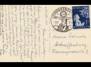 1954: Christkindl - Österreich nach Aschaffenburg