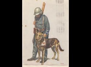 Karte: Bundesfeier 1937-Schweiz-Rettungshund/Rotes Kreuz